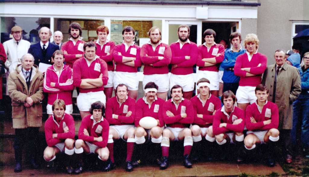 Painswick RFC - 1980 October 19th Official opening of Club House on the Rec Gloucestershire RFU President's XV